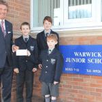 Warwick Junior School house raises over £550